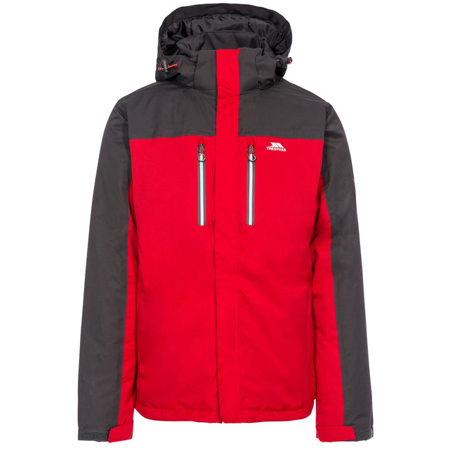 Red - Front - Trespass Mens Tolsford Waterproof Jacket