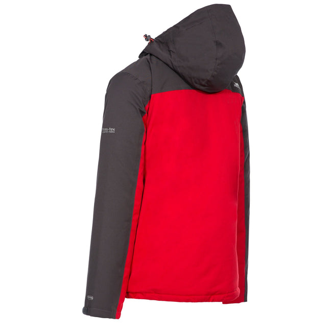 Red - Back - Trespass Mens Tolsford Waterproof Jacket