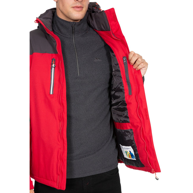 Red - Lifestyle - Trespass Mens Tolsford Waterproof Jacket