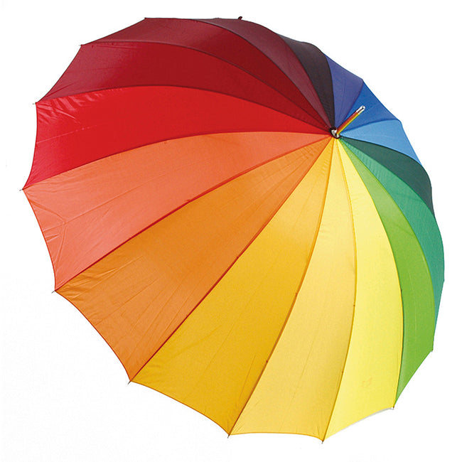 Rainbow - Front - Drizzles Rainbow Golf Umbrella