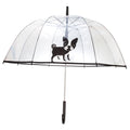 Clear-Black - Back - X-Brella Unisex Adults 23in Transparent French Bulldog Stick Umbrella