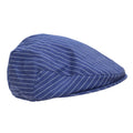 Navy - Front - Tom Franks Mens Striped Flat Cap