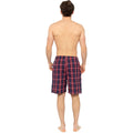 Blue-Red - Lifestyle - Foxbury Mens Checked Pajama Shorts (Pack Of 2)