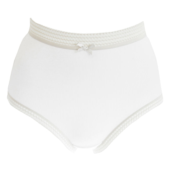 Pastel - Lifestyle - Passionelle Womens-Ladies Ribbed Pastel Cotton Briefs (Pack Of 3)