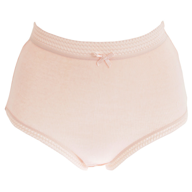 Pastel - Front - Passionelle Womens-Ladies Ribbed Pastel Cotton Briefs (Pack Of 3)