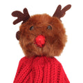 Red - Side - Foxbury Womens-Ladies Christmas Rudolph Knitted Hat