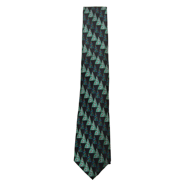 Green-Christmas Trees - Front - ProClimate Mens Christmas Tie