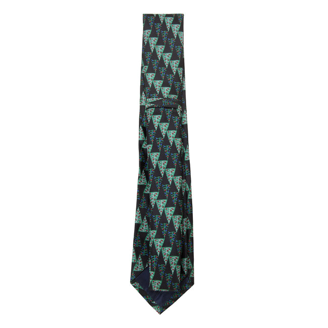 Green-Christmas Trees - Back - ProClimate Mens Christmas Tie