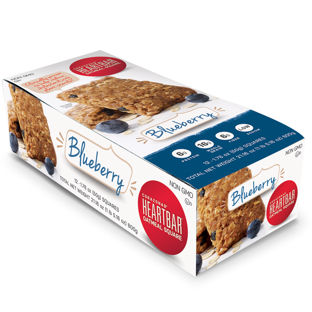 BLUEBERRY HEARTBAR™ OATMEAL SQUARES 12 COUNT