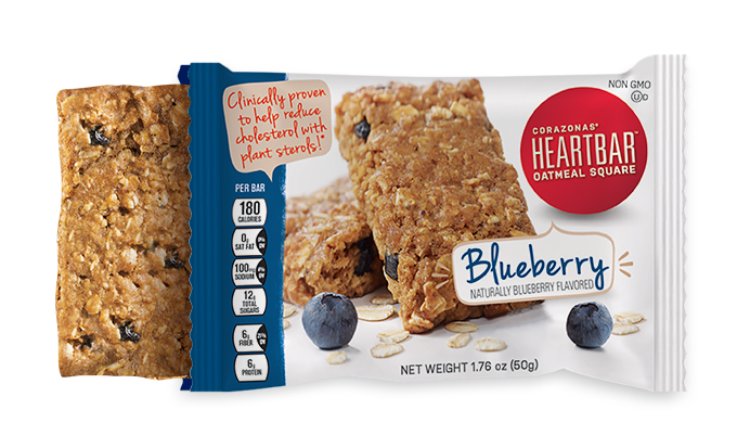 BLUEBERRY HEARTBAR™ OATMEAL SQUARES