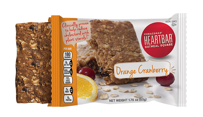ORANGE CRANBERRY HEARTBAR™ OATMEAL SQUARE