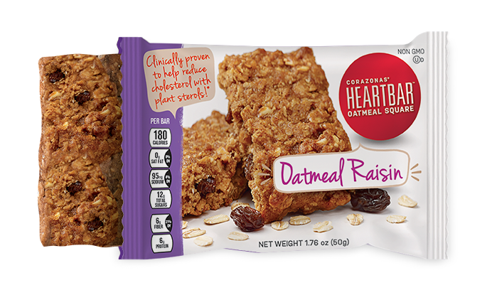OATMEAL RAISIN HEARTBAR™ OATMEAL SQUARES