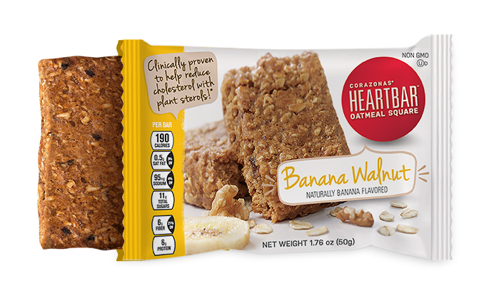 BANANA WALNUT HEARTBAR™ OATMEAL SQUARES