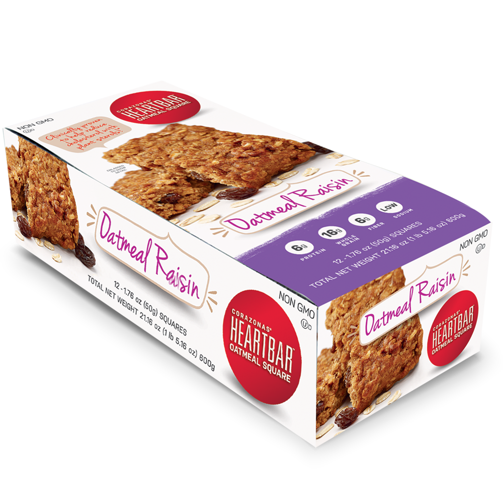 OATMEAL RAISIN HEARTBAR™ OATMEAL SQUARES 12 COUNT