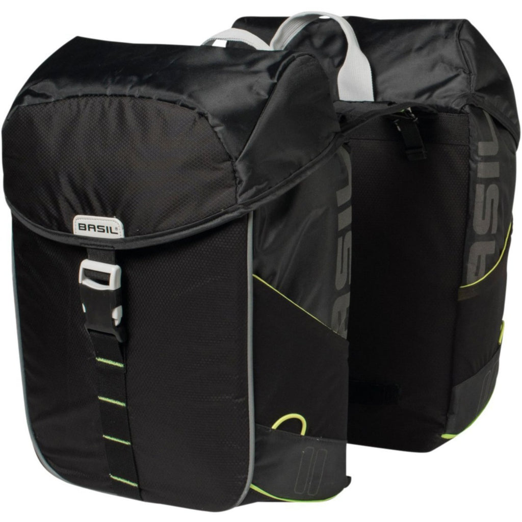 Basil Miles 34L Double Bag, Black