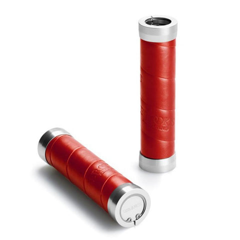 Brooks Slender Leather Grips - Red