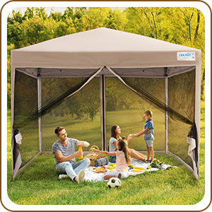10' x 10' Pop Up Canopy with Netting for camping