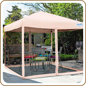 10' x 10' Pop Up Canopy with Netting for backyard