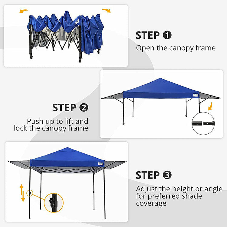 Set up in Seconds Pop up canopy