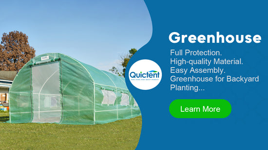 quictent portable greenhouse banner