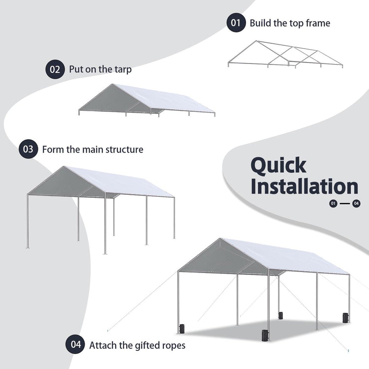 Quicten Car Canopy - Assembly Steps