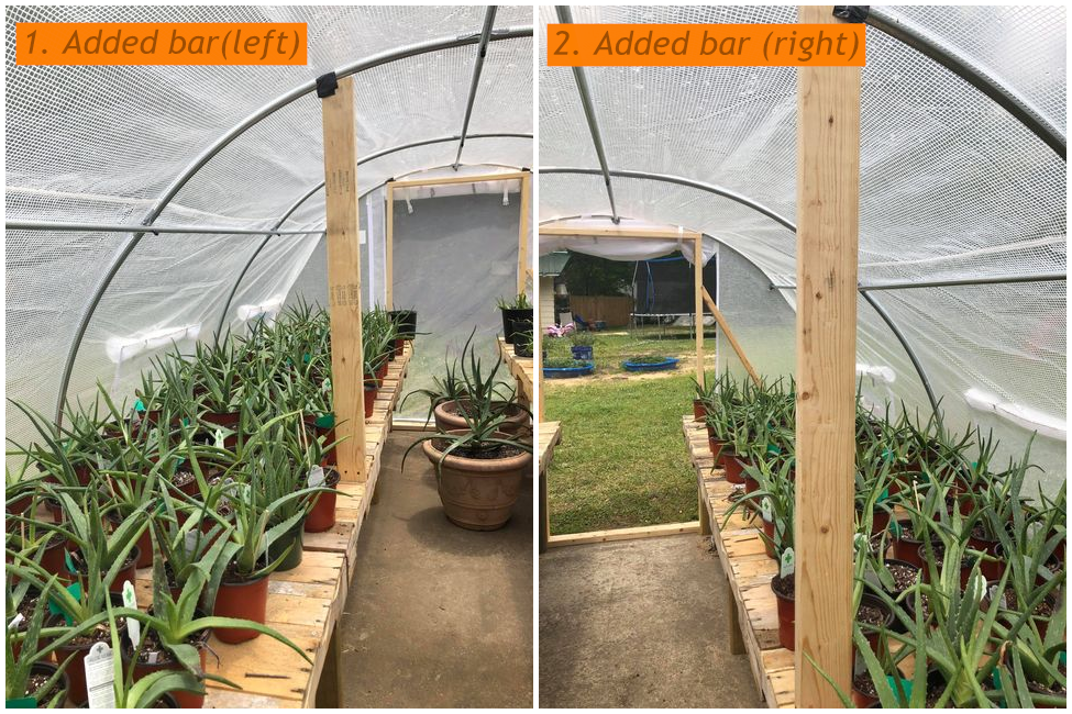 Supporting Bars Added for Quictent 20' x 10' x 7' Upgraded Greenhouse