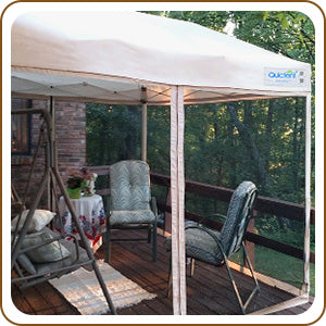 10' x 10' Pop Up Canopy with Netting  for deck