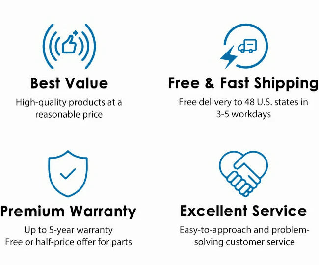 best value, free & fast shipping, premium warranty, excellent service
