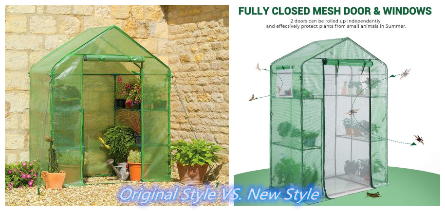"""Comparison of Quictent 78"""" x 56"""" x 30"""" greenhouse: Basic vs. Upgraded"""