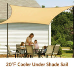 20 F Cooler Under Shade Sail