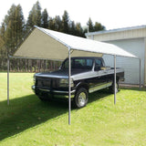 Quictent Upgraded 10' x 20' Heavy Duty Carport-White