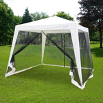 See from the right: Quitent 10' x 8' mesh netting party tent
