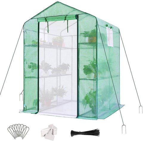 56''x56''x77'' Walk-in Greenhouse green