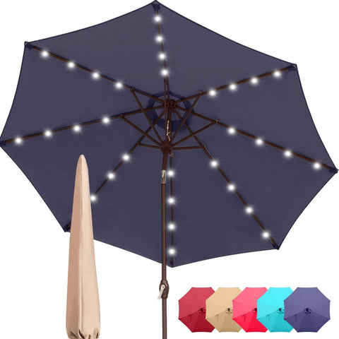 9' Patio Umbrella With Lights
