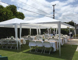 Party is Ready With Qucitent 10' x 30' Party Tent With 3 Window Sides and 2 Zipper Sides-White