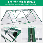 "Quictent 49""x37""x36"" Galvanized Steel Garden Bed with Cover-Clear"