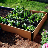 "Quictent 48''x48''x11"" Wooden Garden Bed with 8 Mental Connectors"