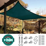 24' x 24' Square Shade Sail-Green