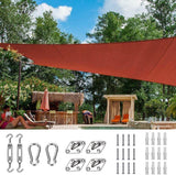 26' x 20' Rectangle Shade Sail-Terracotta