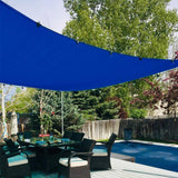 24' x 24' Square Shade Sail-Blue