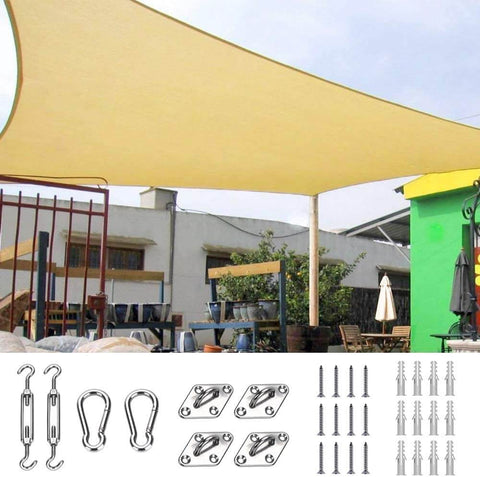 24' x 24' Square Shade Sail-Sand