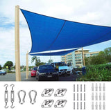 26' x 20' Rectangle Shade Sail-Blue