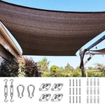 26' x 20' Rectangle Shade Sail-Brown