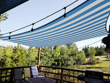 24' x 24' Square Shade Sail-White and Blue