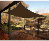 24' x 24' Square Shade Sail-Brown