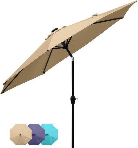 7.5' Patio Table Umbrella-Tan