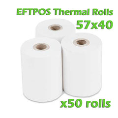 EFTPOS Thermal Paper Roll - 57 x 40mm - Box of 50
