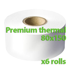 Thermal Rolls – 80 x 150 mm – Box of 6