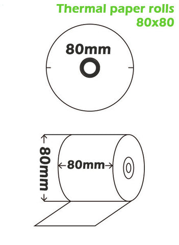 Kitchen printer - Thermal paper roll dimensions | OnlinePOS