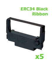 Printer Ribbon - Black - Box of 5